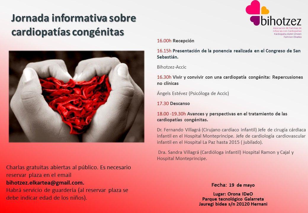 Sortzetiko kardiopatien inguruko jaurdunaldiak/Jornadas sobre cardiopatías congenitas